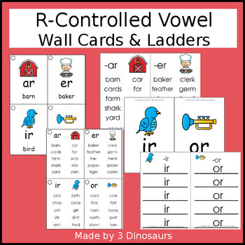 R-Controlled Vowel Wall Cards & Ladders