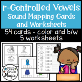 R-Controlled Vowel Word Picture Cards and Sound Mapping Worksheets