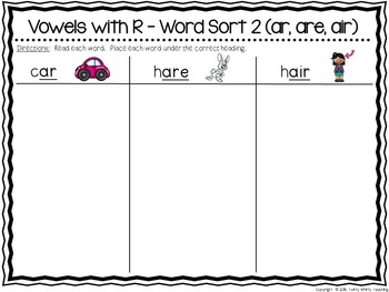 R-Controlled Vowels Word Sort Sets The BIG Bundle