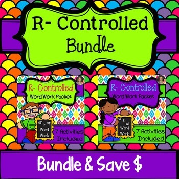 R Controlled Vowel Word Work Bundle: er, ir, ur, ar, or