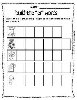 R-Controlled Vowel Word Work -er