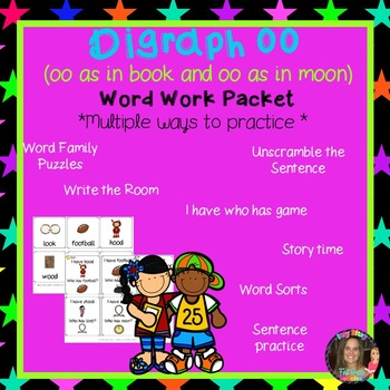 Digraph OO Word Work Packet