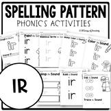R Controlled Vowel Worksheets IR