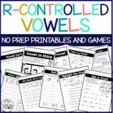 R Controlled Vowel Worksheets   Printable & Google Slides  