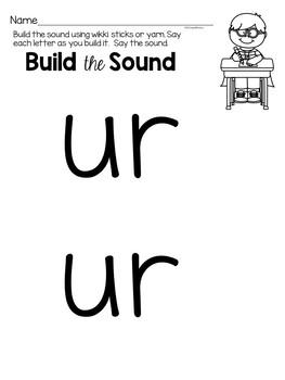 R Controlled Vowel Worksheets UR