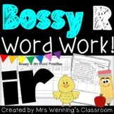 R-Controlled Vowel ir (Bossy R) Pack!