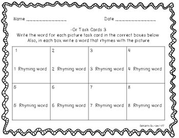 R Controlled Vowel -or Activities