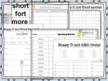 R-Controlled Vowel or (Bossy R) - A Week of Lesson Plans and Activities!