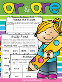 R-Controlled Vowel - or, ore - Worksheets