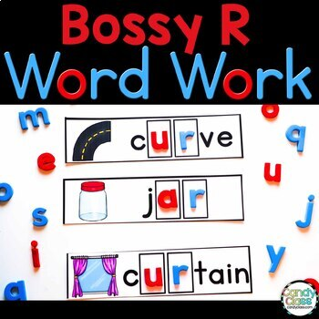 Bossy R Word Work Cards {Phonics Activities for R Controlled Vowels}