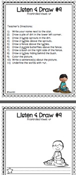 R Controlled Vowels Listen and Follow Directions