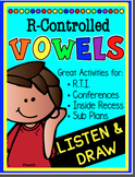 LISTEN AND DRAW  R Controlled Vowels Listening and Following Directions