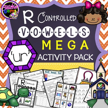 R Controlled Vowels: UR Mega Activity Pack