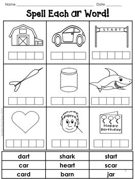 R-Controlled Vowels 30 No Prep Printables Bossy R