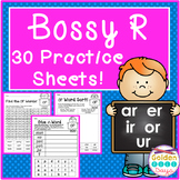 R-Controlled Vowels 30 No Prep Printables Bossy R Word Sorts and Making Words!