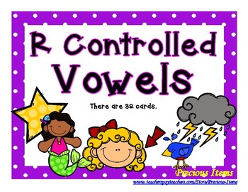 R Controlled Vowel Picture Cards