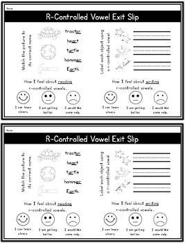 R-Controlled Vowels: A Differentiated Read-the-Room