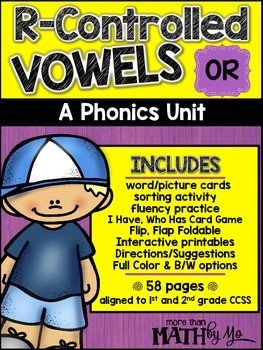 R-Controlled Vowels - A Phonics Unit: OR