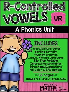 R-Controlled Vowels - A Phonics Unit: UR