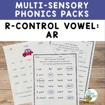 R Controlled Vowels AR Orton-Gillingham Level 2 Multisensory Phonics Activities