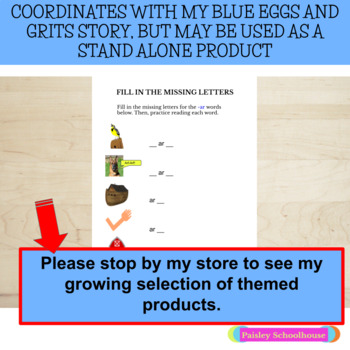 R-Controlled Vowels -AR: Blue Eggs and Grits