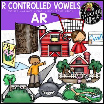 R Controlled Vowels - AR Clip Art Bundle