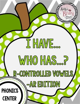 R-Controlled Vowels (-AR) I Have Who Has Game (Free!)