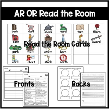 R-Controlled Vowels AR/OR Differentiated Read the Room