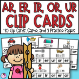 R Controlled Vowels AR, OR, ER, IR, UR Clip Cards and More