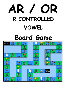 R Controlled Vowels AR and OR Literacy Centers