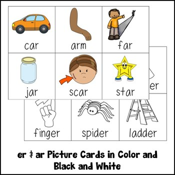 R Controlled Vowels Activities ER & AR