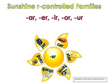 R-Controlled Vowels, Ar, Er, Ir, Or, Ur, Sun Literacy Center Word Sort