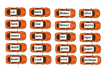 R-Controlled Vowels Car Sort