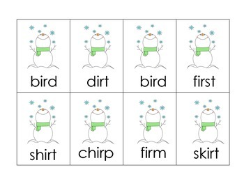 R-Controlled Vowels Center Game