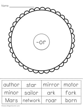 R-Controlled Vowels Circle Maps