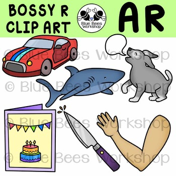 R-Controlled Vowels Clip Art - AR