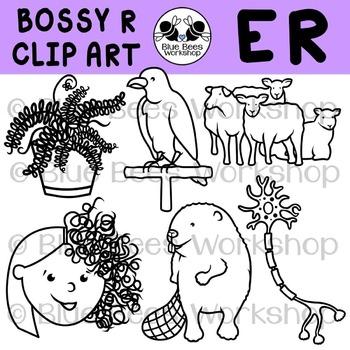 R-Controlled Vowels Clip Art - ER