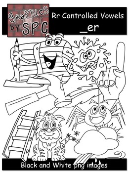 R Controlled Vowels Clip Art-  _er Spelling Clipart
