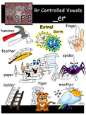 R Controlled Vowels Clip Art-  _er Spelling Clipart
