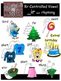 R Controlled Vowels Clip Art-  _ir Spelling and Rhyming Clipart
