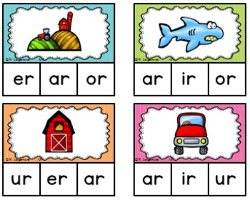 R-Controlled Vowels Clip Cards