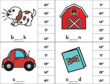 R Controlled Vowels Clip Cards Center