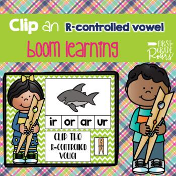 R-Controlled Vowels Clip DIGITAL Task BOOM CARDS
