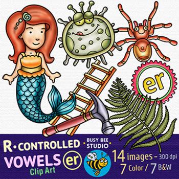 R Controlled Vowels Clipart Bundle