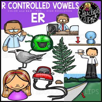 R Controlled Vowels - ER Clip Art Bundle {Educlips Clipart}