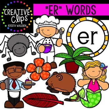 R-Controlled Vowels: ER {Creative Clips Digital Clipart}