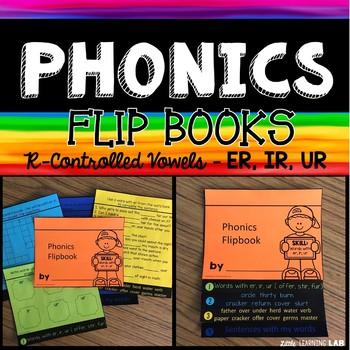 R Controlled Vowels | ER, IR, UR sound | Phonics Flip Book