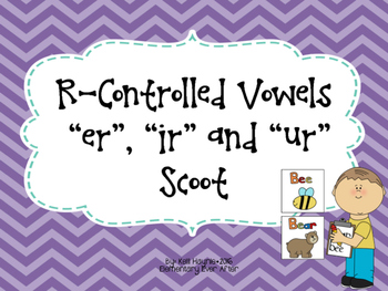 R-Controlled Vowels (ER, IR and UR) Write the Room