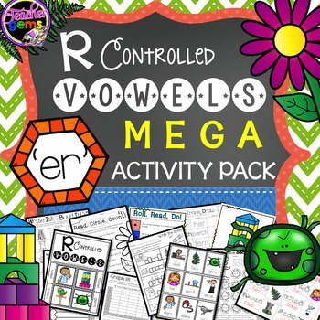 R Controlled Vowels: ER Mega Activity Pack