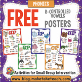 Free R-Controlled Vowels Posters